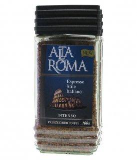 Кофе AltaRoma Intenso (Альта Рома Интенсо) 100 г, сублимированный кофе, стеклянная банка