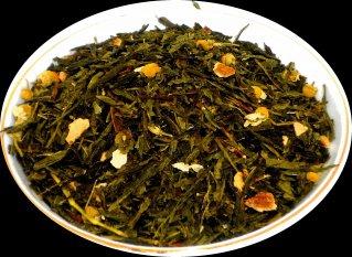 Чай зеленый  Японская липа, 500 г, фольгированный пакет, крупнолистовой зеленый ароматизированный чай