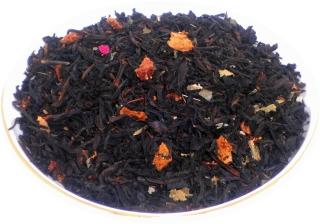 Чай черный Земляника со сливками, 500 г, фольгированный пакет, крупнолистовой ароматизированный чай, купить чай