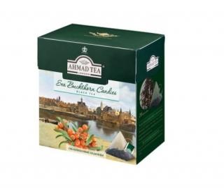 Чай черный Ahmad Tea Sea Buckthorn Candies (Ахмад Облепиховые леденцы), байховый листовой (20 пирамидок по 1,8гр. в уп.)