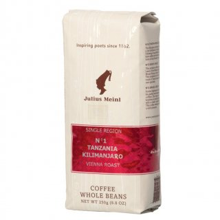 Кофе в зернах Julius Meinl N1 Tanzania Kilimanjaro (Юлиус Майнл Танзания Килиманджаро), 250 гр., вакуумная упаковка