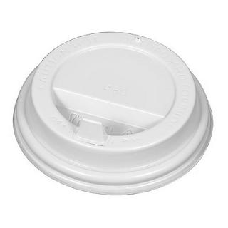 Крышка для картонных стаканов под горячие напитки Белая, 90 мм, 100 шт. в упаковке