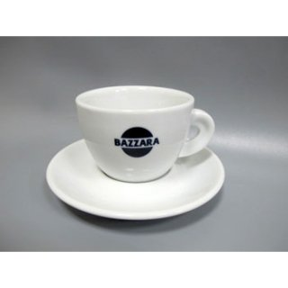 Кофейная пара Bazzara, чашка (50мл) + блюдце. Итальянский фарфор