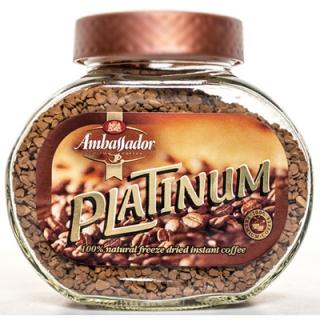 Кофе растворимый Ambassador Platinum (Амбассадор Платинум), стеклянная банка, 95 гр.