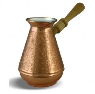Турка Турчанка медная со съемной ручкой, 550 мл