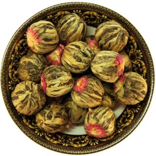 Чай связанный Жасминовый Хуа Ли Чжи, 500 г, крупнолистовой связанный чай