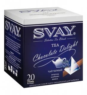 Чай Svay Chocolate Delight (Шоколадное искушение) Для чайников (20 пирамидок по 4гр.)