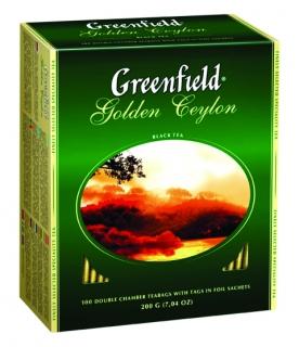 Чай черный Greenfield Golden Ceylon пакетированный 100 пакетиков в упаковке