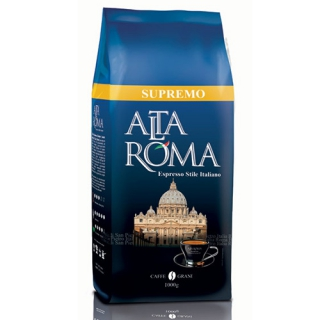 Кофе в зерне Alta Roma Supremo (Альта Рома Супремо) 1кг, вакуумная упаковка