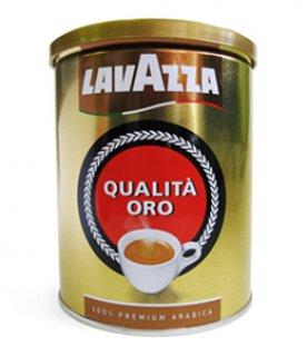 Lavazza Oro (Лаваца Оро), кофе молотый (250г), упаковка -жестяная банка