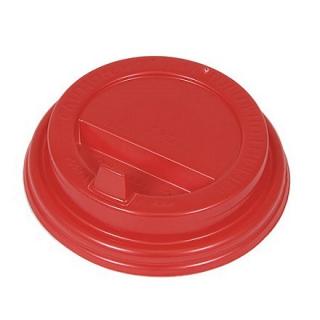 Крышка для картонных стаканов под горячие напитки Красная, 80 мм, 100 шт. в упаковке