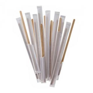 Размешиватель деревянный 180 мм в индивидуальной упаковке, 250 шт.