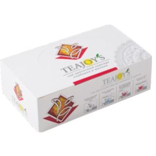 Чай цветочный TEAJOYS Каркаде, пакетики с ярлычками, 100 саше по 2 г.