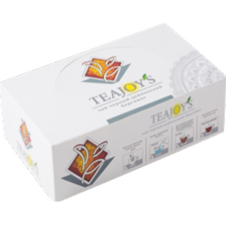 Чай черный TEAJOYS Цейлонский с бергамотом, пакетики с ярлычками, 100 саше по 2 г.