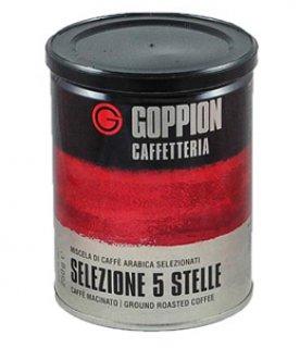 Гоппион Selezione 5 stelle, 250 г. кофе молотый, металлическая банка.