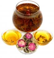 Чай связанный Персик Дракона Юй Лун Тао, 500 г, фольгированный пакет, крупнолистовой связанный чай, купить чай