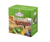 Чай зеленый Ahmad Tea Key Lime Pie Green (Ахмад Лаймовый пирог), байховый листовой (20 пирамидок по 1,8гр. в уп.)