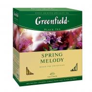 Чай черный Greenfield Spring Melody пакетированный 100 пакетиков в упаковке