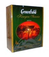 Чай черный Кенийский байховый Greenfield Kenyan Sunrise пакетированный 100 пакетиков в упаковке