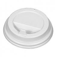Крышка для картонных стаканов под горячие напитки Белая, 80 мм, 100 шт. в упаковке