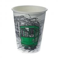 Стакан картонный одинарный под горячие напитки Паперскоп Big City, 300 мл, 50 шт./уп.