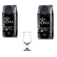 Набор кофе в зернах Alta Roma Nero 2 шт и Бокал для кофе