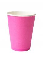 Стакан бумажный D.R.V. (ДИ.АР.ВИ.) под горячие напитки РОЗОВЫЙ, 400 мл, 50 шт./упак.