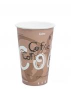 Стакан картонный одинарный под горячие напитки Паперскоп Coffee, 300 мл, 50 шт./упак.