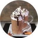 Сливки, горячий шоколад