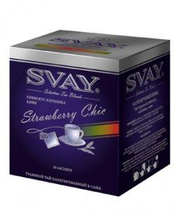 Чай Svay Strawberru Chic (Клубничный шик) (20 саше по 2гр.)