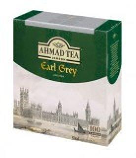 Чай черный Ahmad Earl Grey (Ахмад Эрл Грей), пакетики с ярлычками, 100 саше по 2г.
