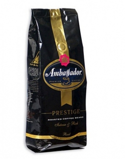 Кофе в зернах Ambassador Prestige (Амбассадор Престиж) 1 кг, вакуумная упаковка