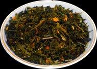 Чай зеленый  Лимон с имбирем, 500 г, фольгированный пакет, крупнолистовой зеленый ароматизированный чай, купить чай