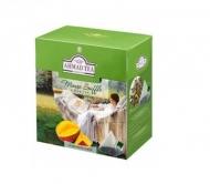 Чай зеленый Ahmad Tea Mango Souffle Green (Ахмад Манговое суфле), байховый листовой (20 пирамидок по 1,8гр. в уп.)