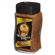 Кофе растворимый Черная карта Gold (Голд), стеклянная банка, 95 г