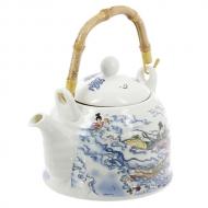 Чайник для чая Девушки в облаках, с бамбуковой ручкой, 600 мл