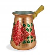 Турка Красная роза медная со съемной ручкой, 450 мл