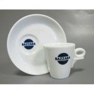 Кофейная пара Bazzara, чашка (50мл) + блюдце со смещенным центром. Итальянский фарфор
